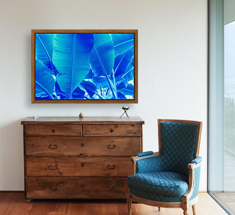 Blue Bananas - Re-Imagined Tropical Biophilia  Art
