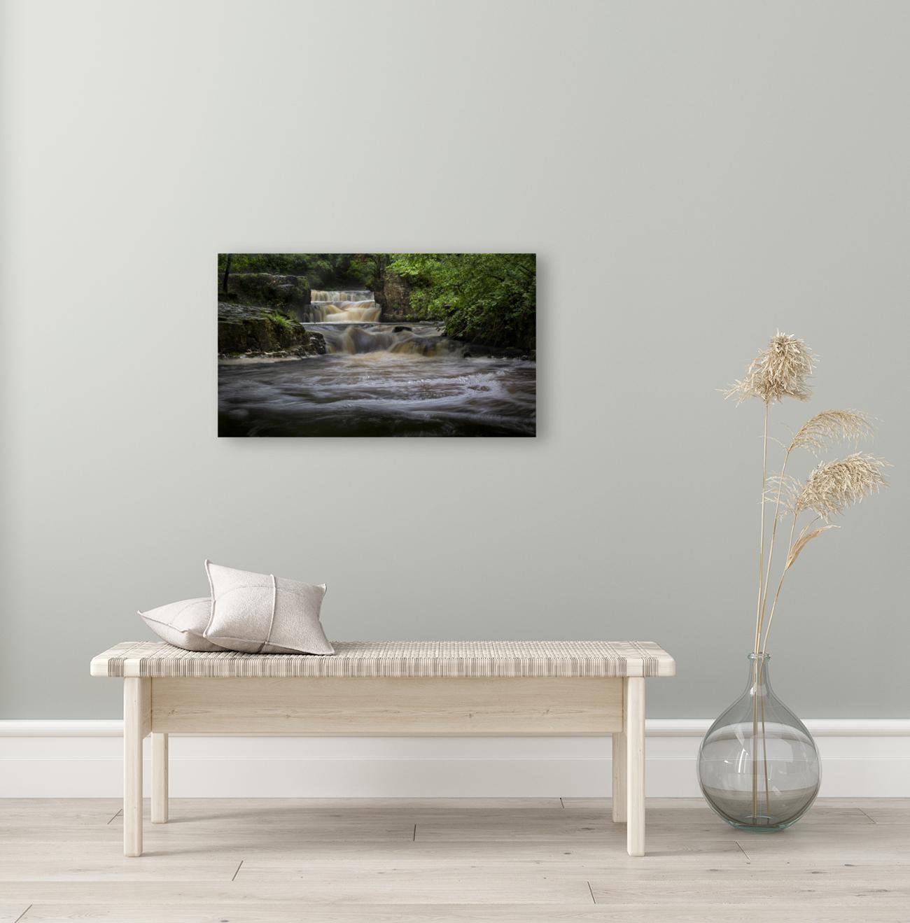 Rushing water at Horseshoe falls  Art