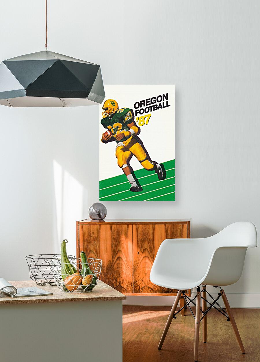1987 oregon ducks retro football poster  Art