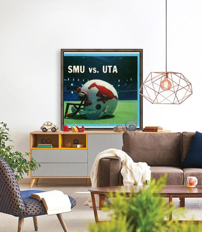 1983_College_Football_SMU vs. UTA_Texas Stadium_Dallas  Art