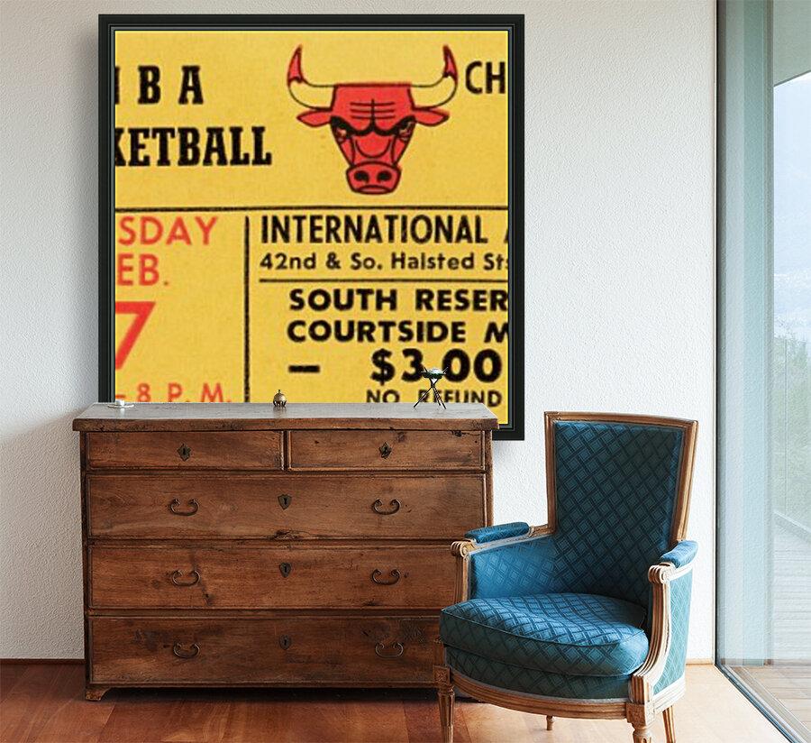 1967 Chicago Bulls 1st Season Ticket Art  Art