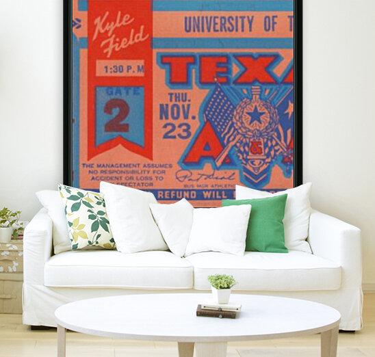 1961 texas am aggies football ticket wall art  Art