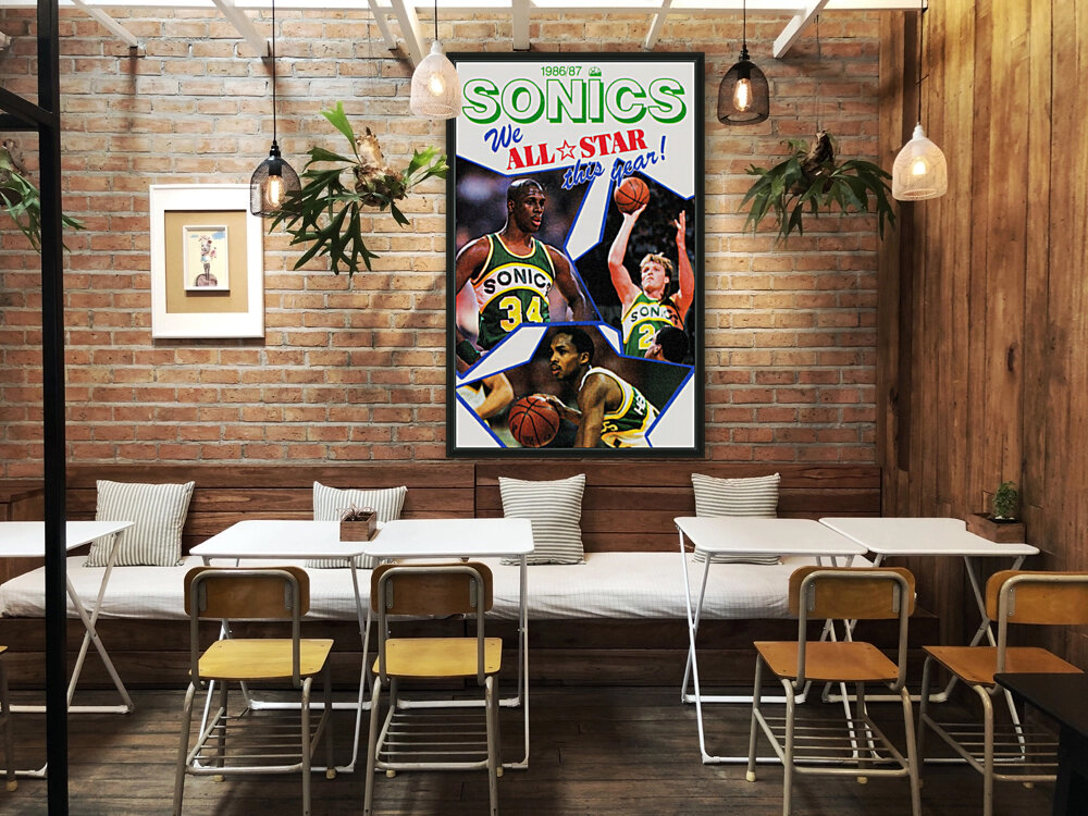 1987 seattle supersonics nba all star game poster  Art