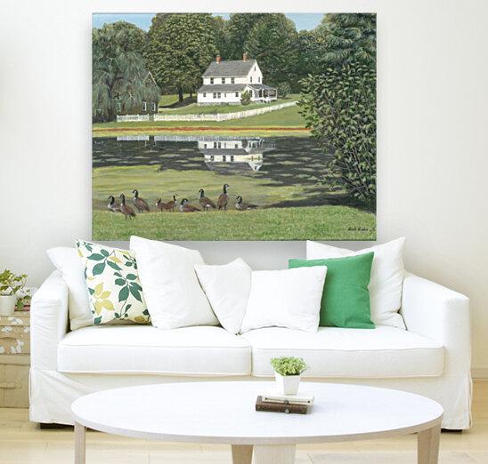 Geese at Hawley Pond - Newtown Series 16X20  Art
