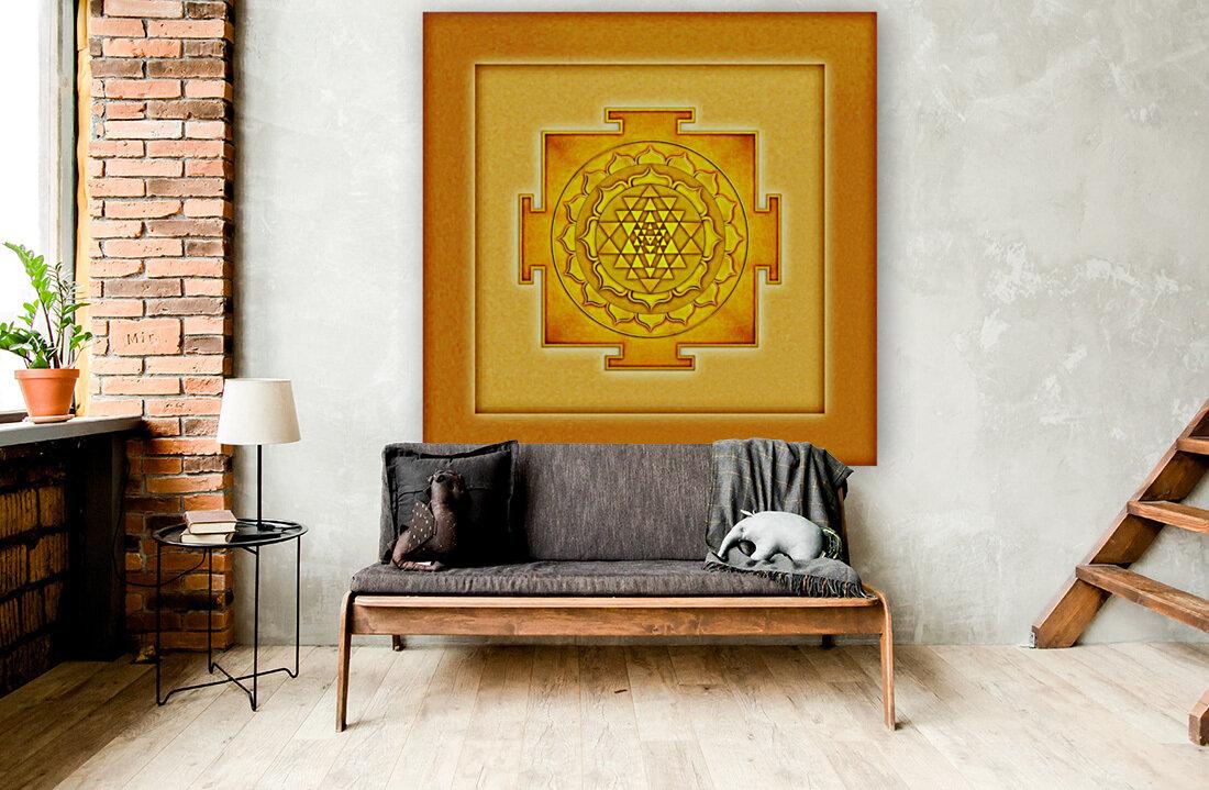Golden Sri Yantra III  Art