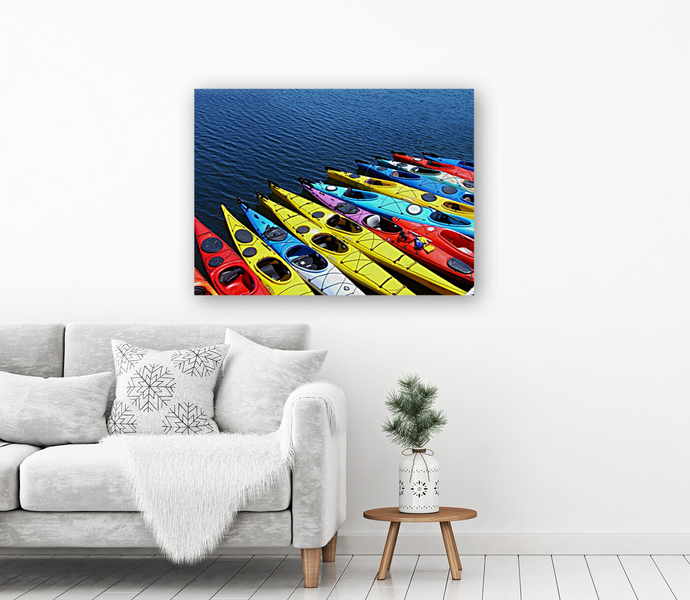 Colorful Kayaks with Floating Frame