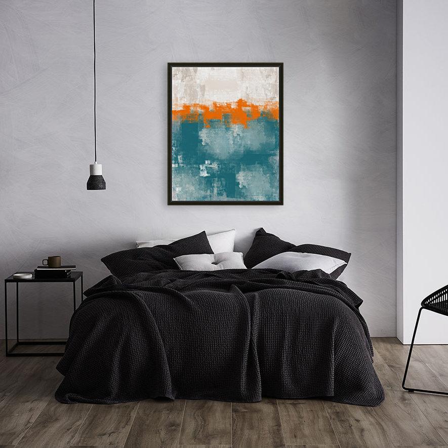 Blue Gray Orange Abstract DAP 20014  Art