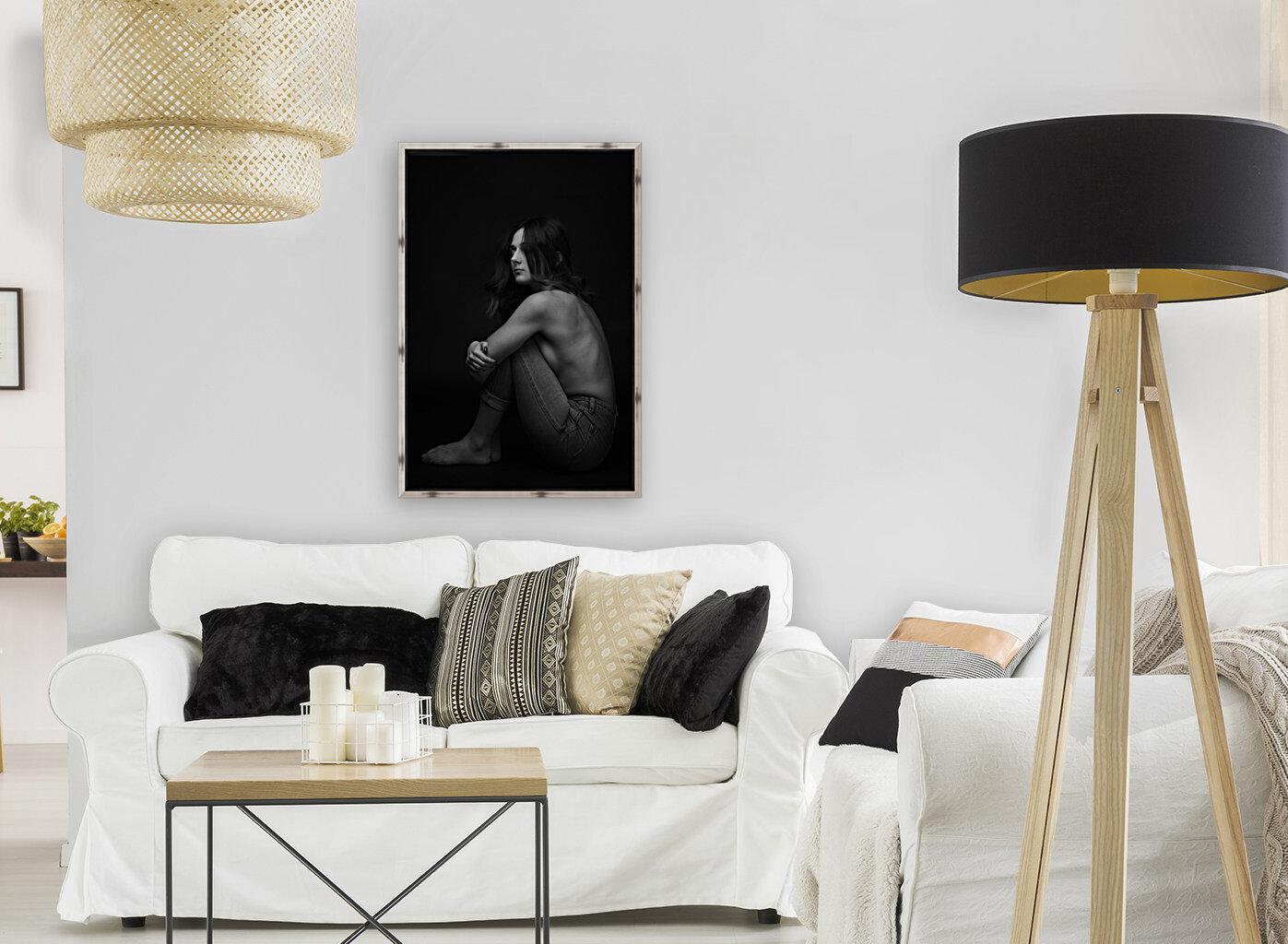 Black and White Woman Portrait 1  Art