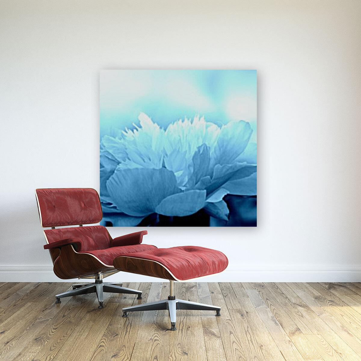 Heavenly Peony Aqua Blue  Art