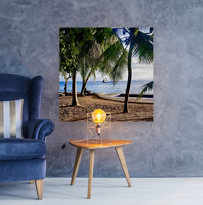 Sailboat And Palms  Art