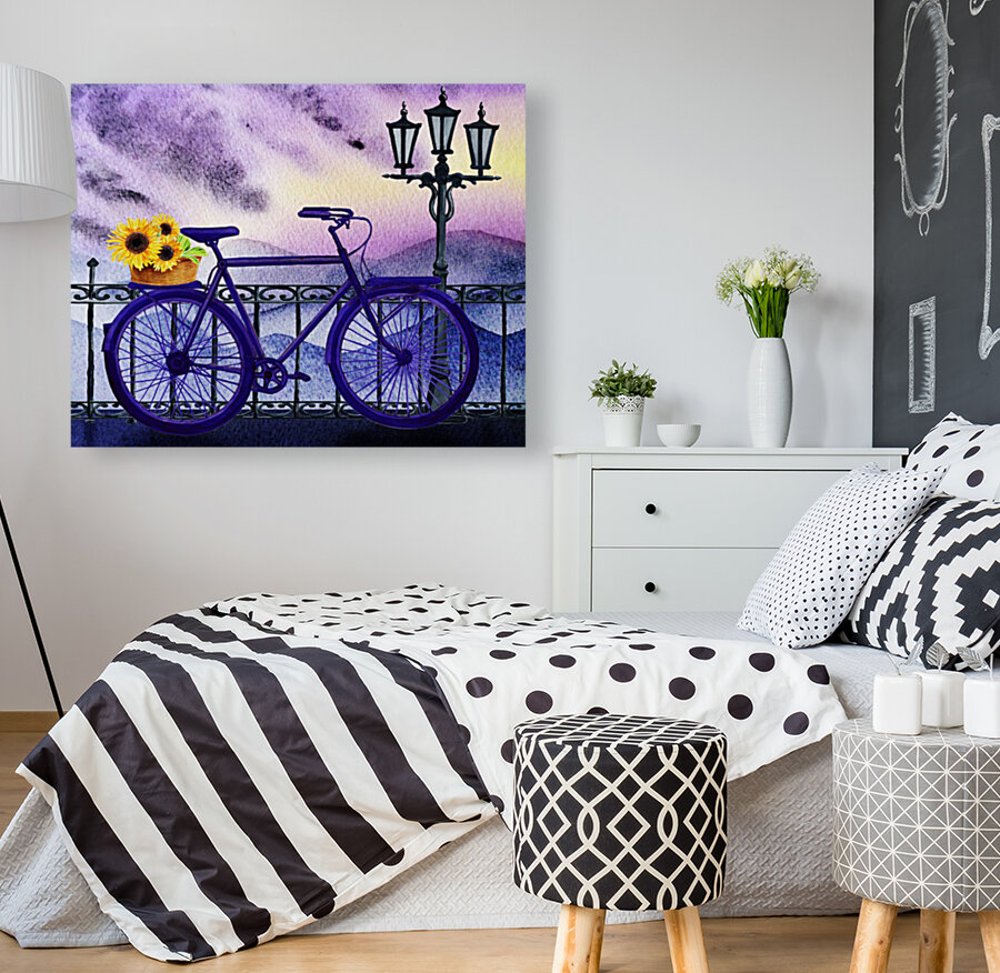 Bicycle And Sunflowers  Art