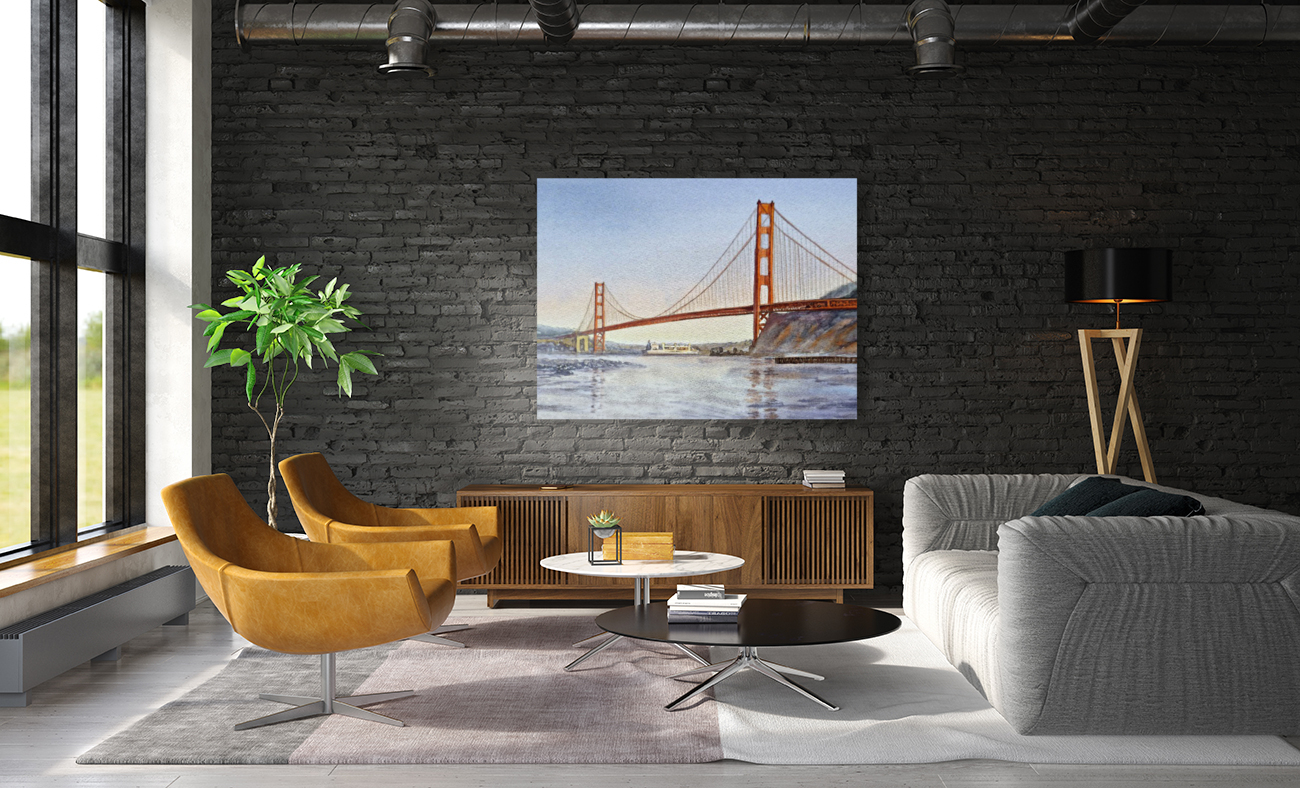 San Francisco California Golden Gate Bridge  Art