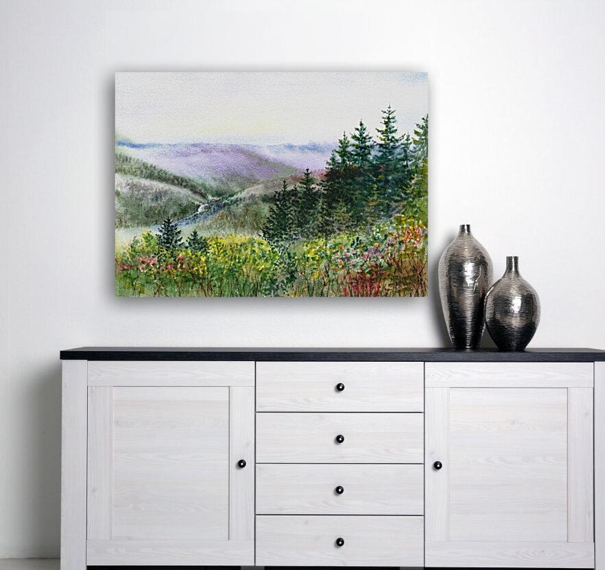 Landscape With Redwood Creek   Art