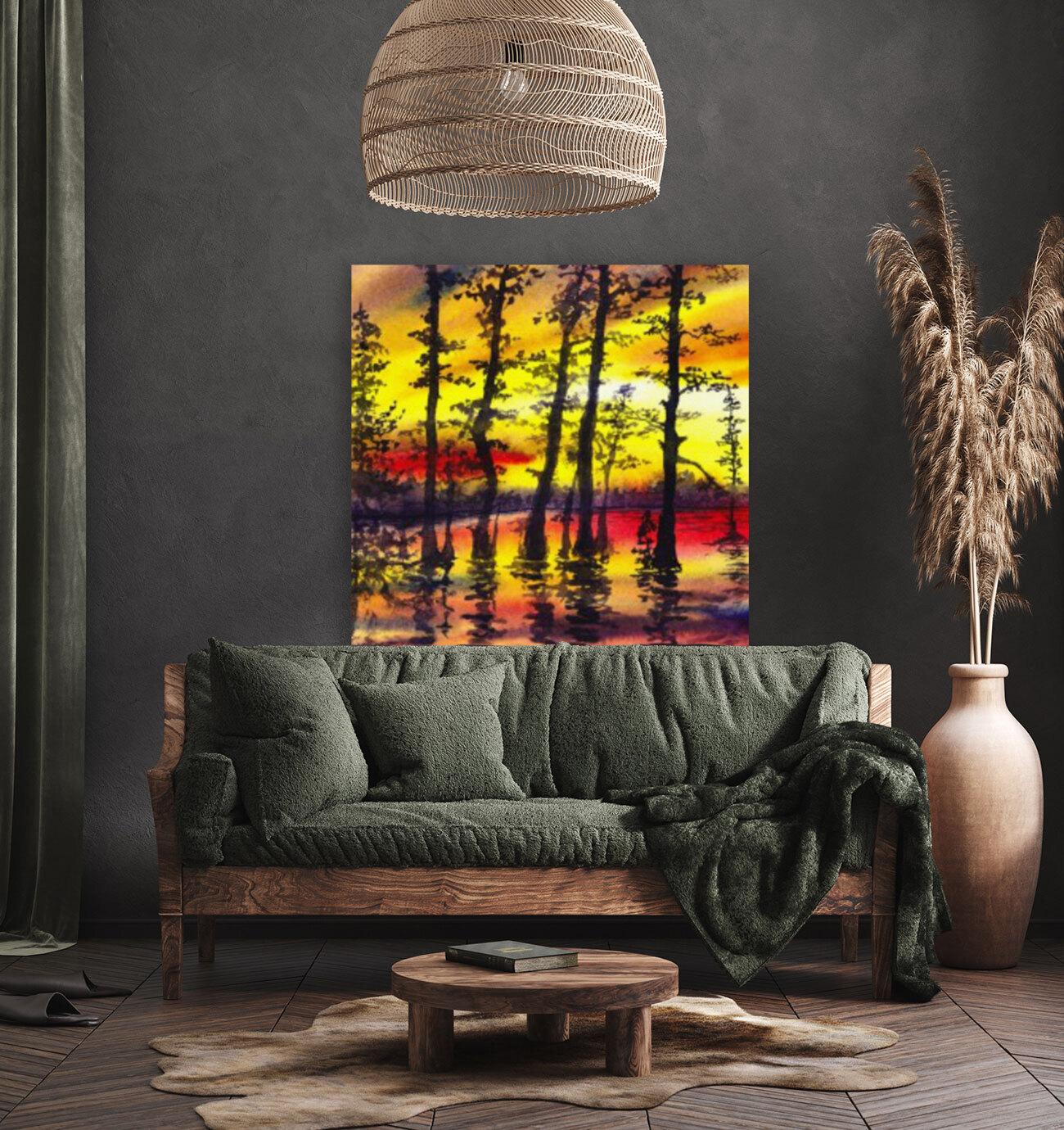 Bright Sunset Through The Trees  Art