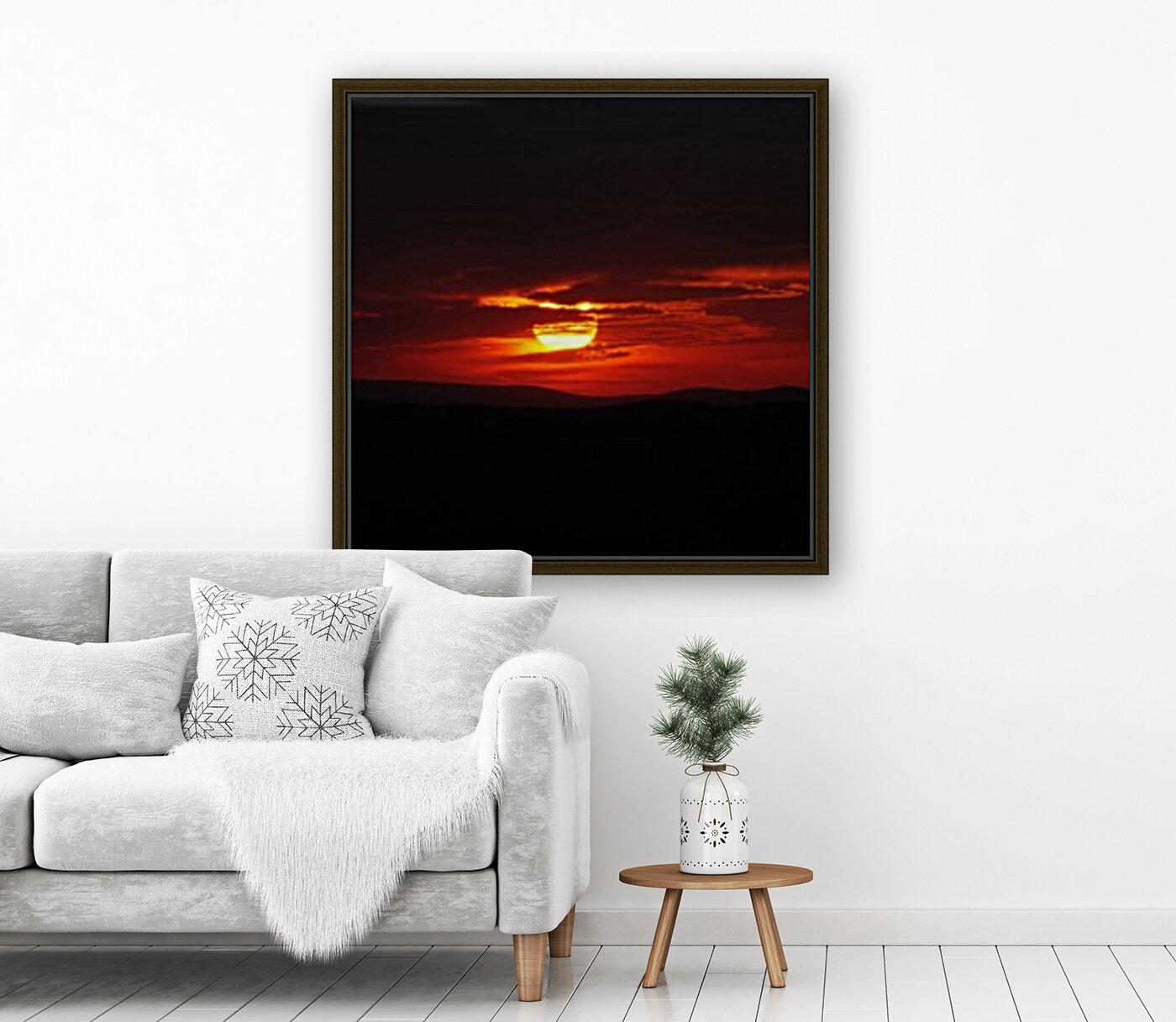 Sky on Fire with Floating Frame