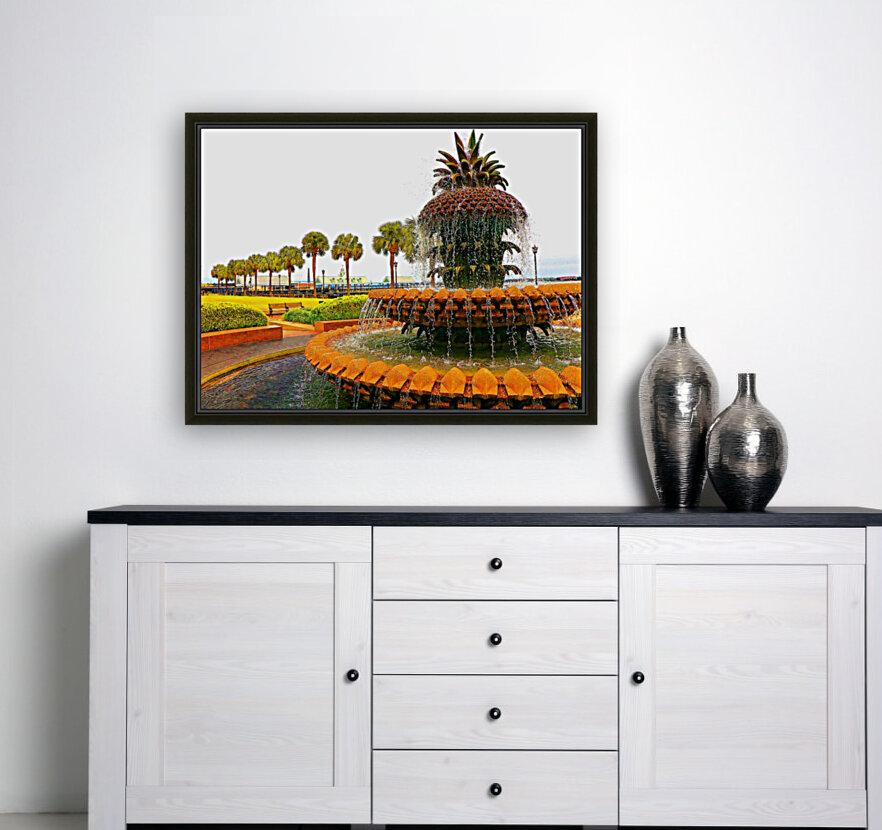 Pineapple Fountain - Charleston SC  Art