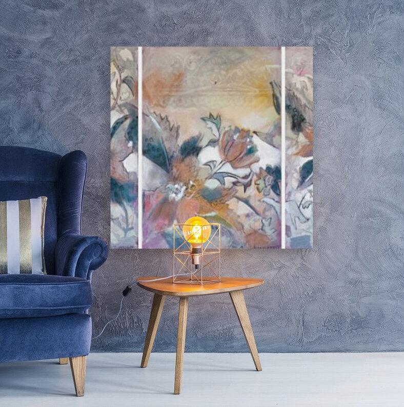 Riverton Wallpaper Tracings Triptych  Art