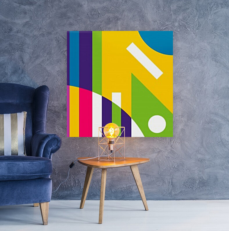 2 White Lines in Abstract Background  Art