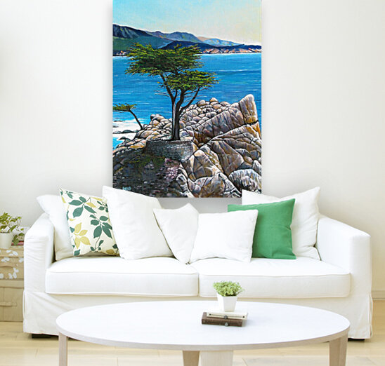 Lone Tree at Pebble Beach  Art