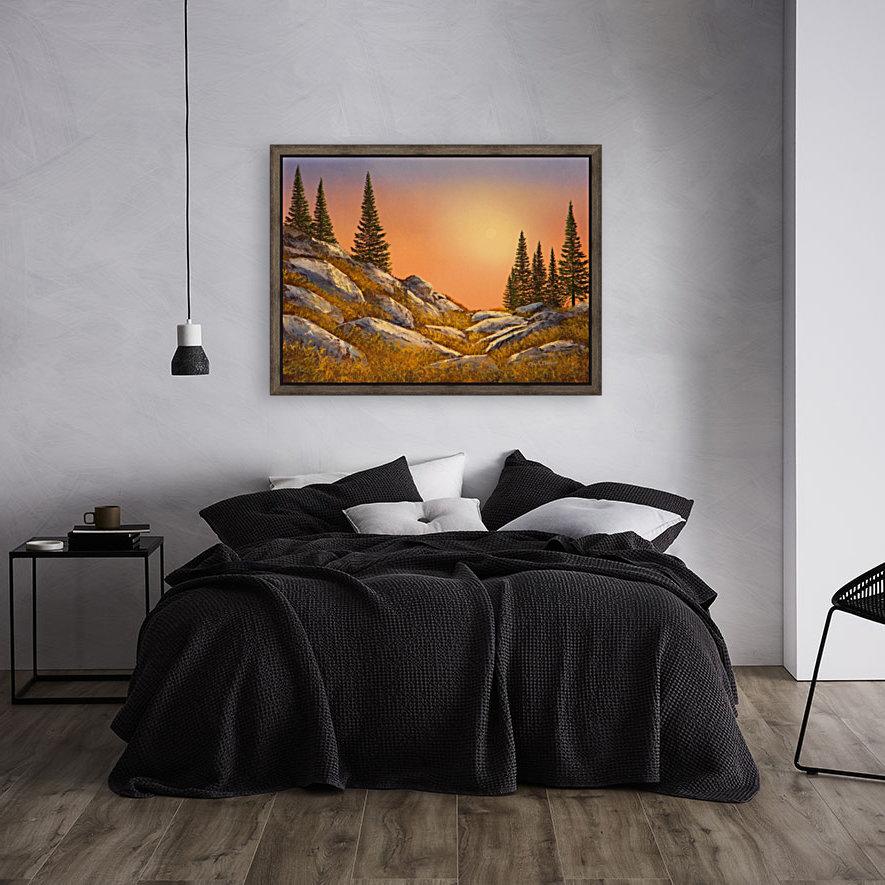 Sunset Spruces  Art