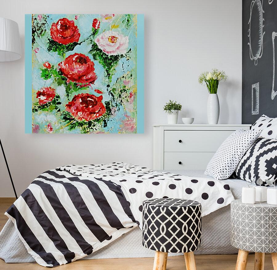 Roses on Aqua  Art