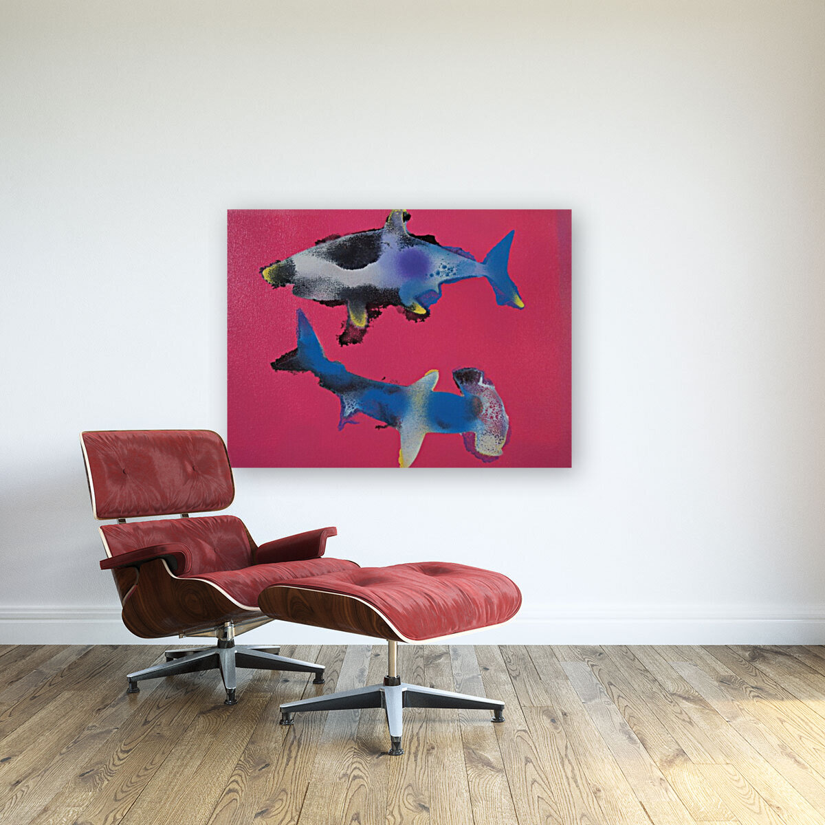 TWO HUNGRY SHARKS  Art