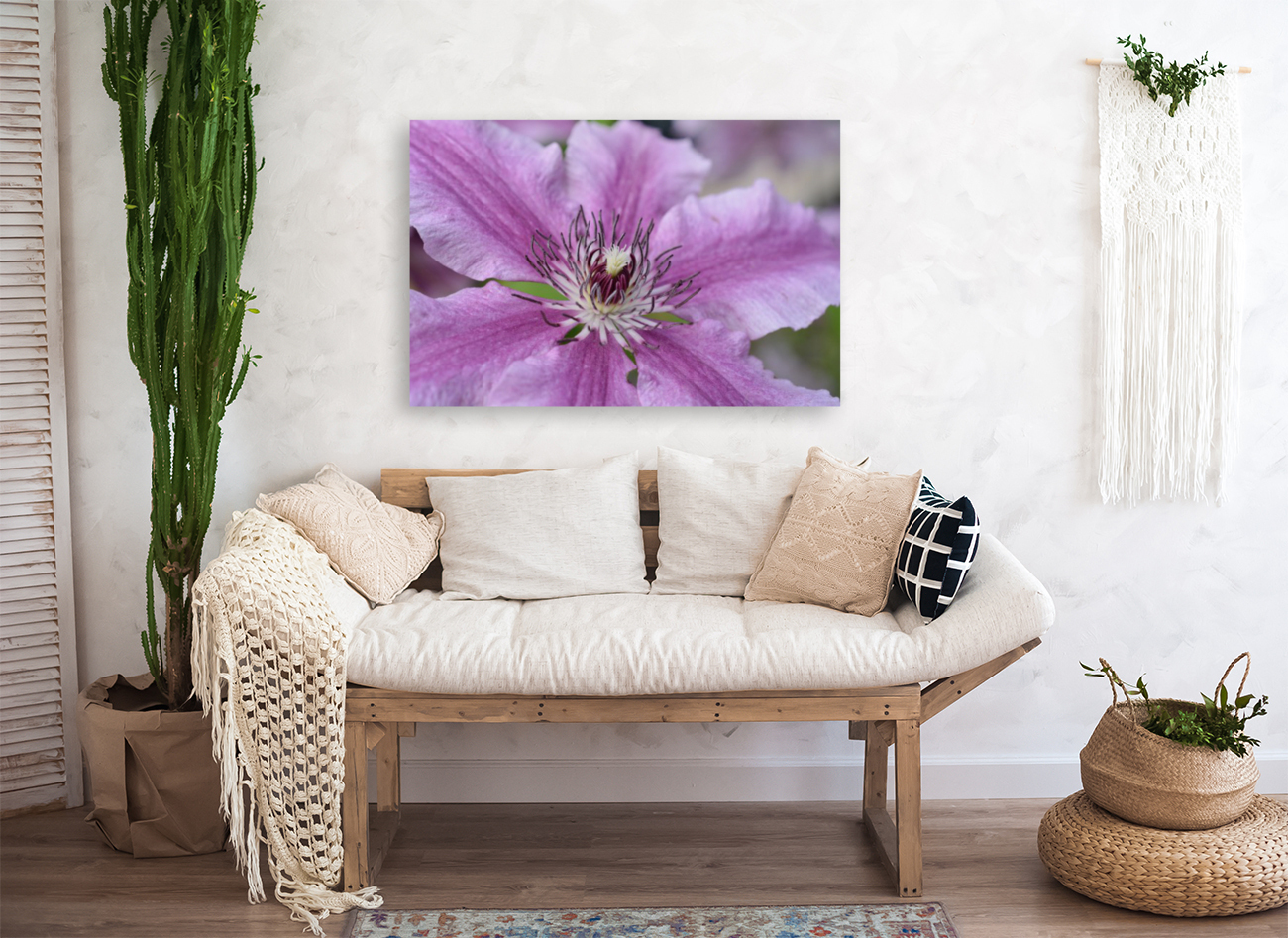 Pink Floral Photograph with Floating Frame