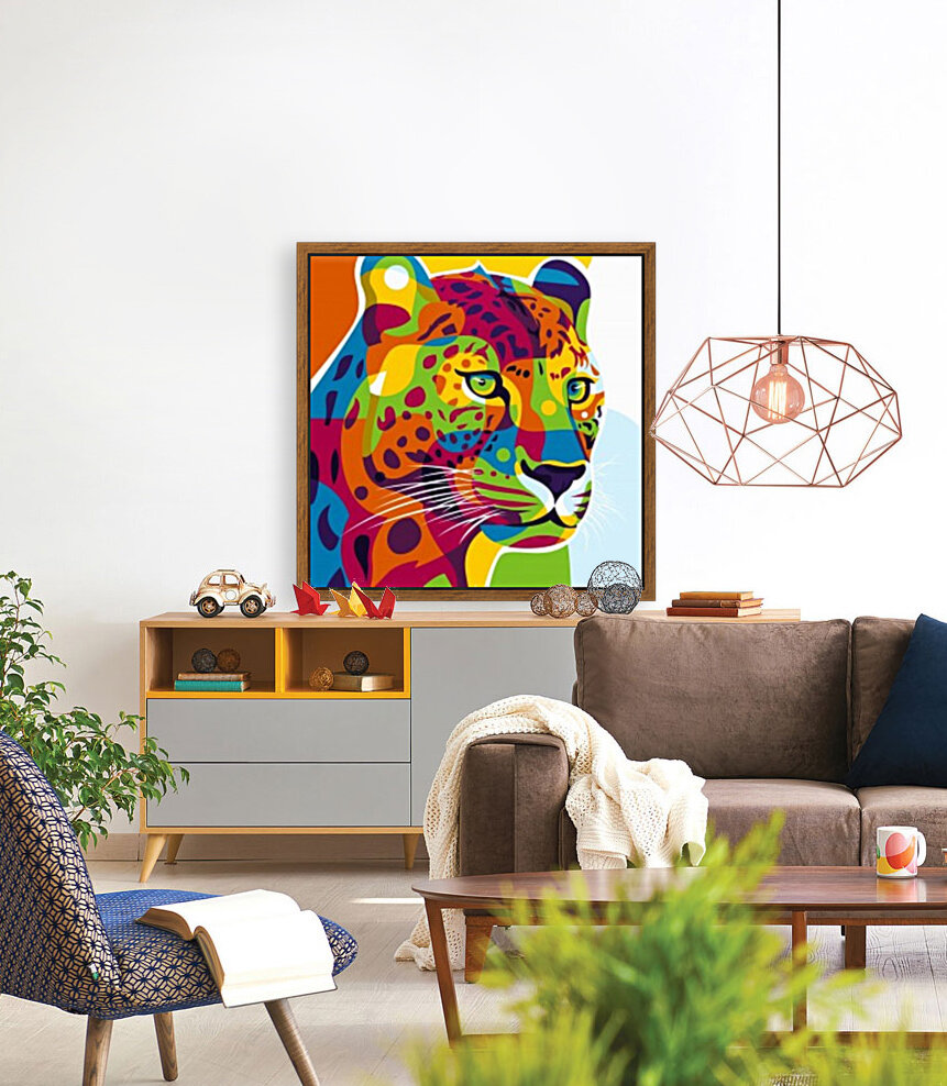 The Colorful Leopard  Art