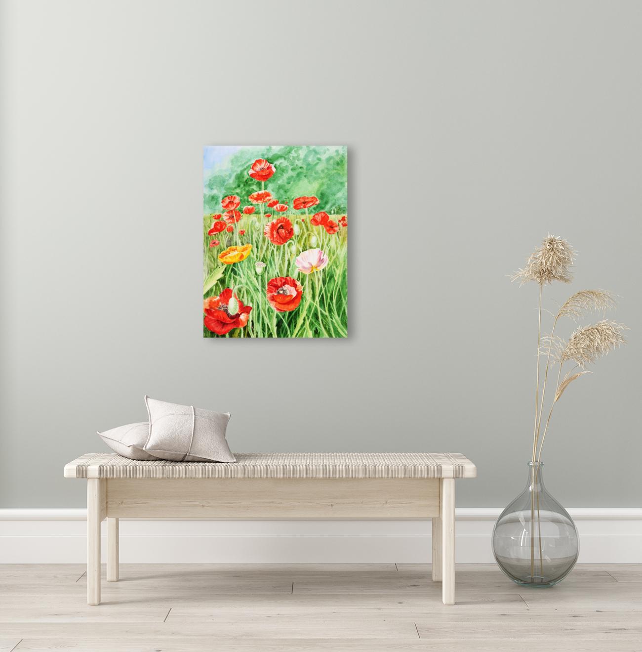 Poppy Field  Art