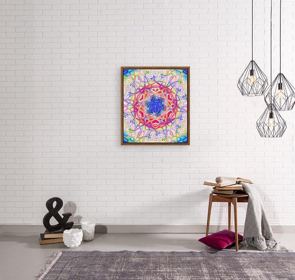 Psychedelic Art Hexagon Mandala Handdrawing  Art