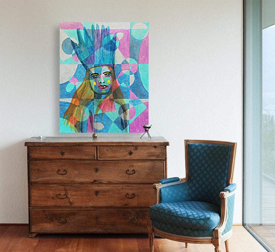Woman in blue-5  Art