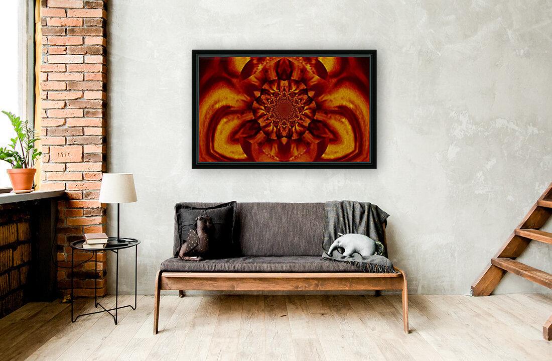 Lotus in Gold Satin  Art