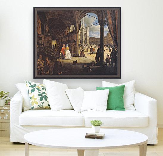 Veduta della piazza del Duomo dal Coperto dei Figini  Art