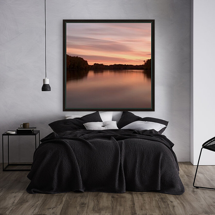 Coucher de soleil with Floating Frame