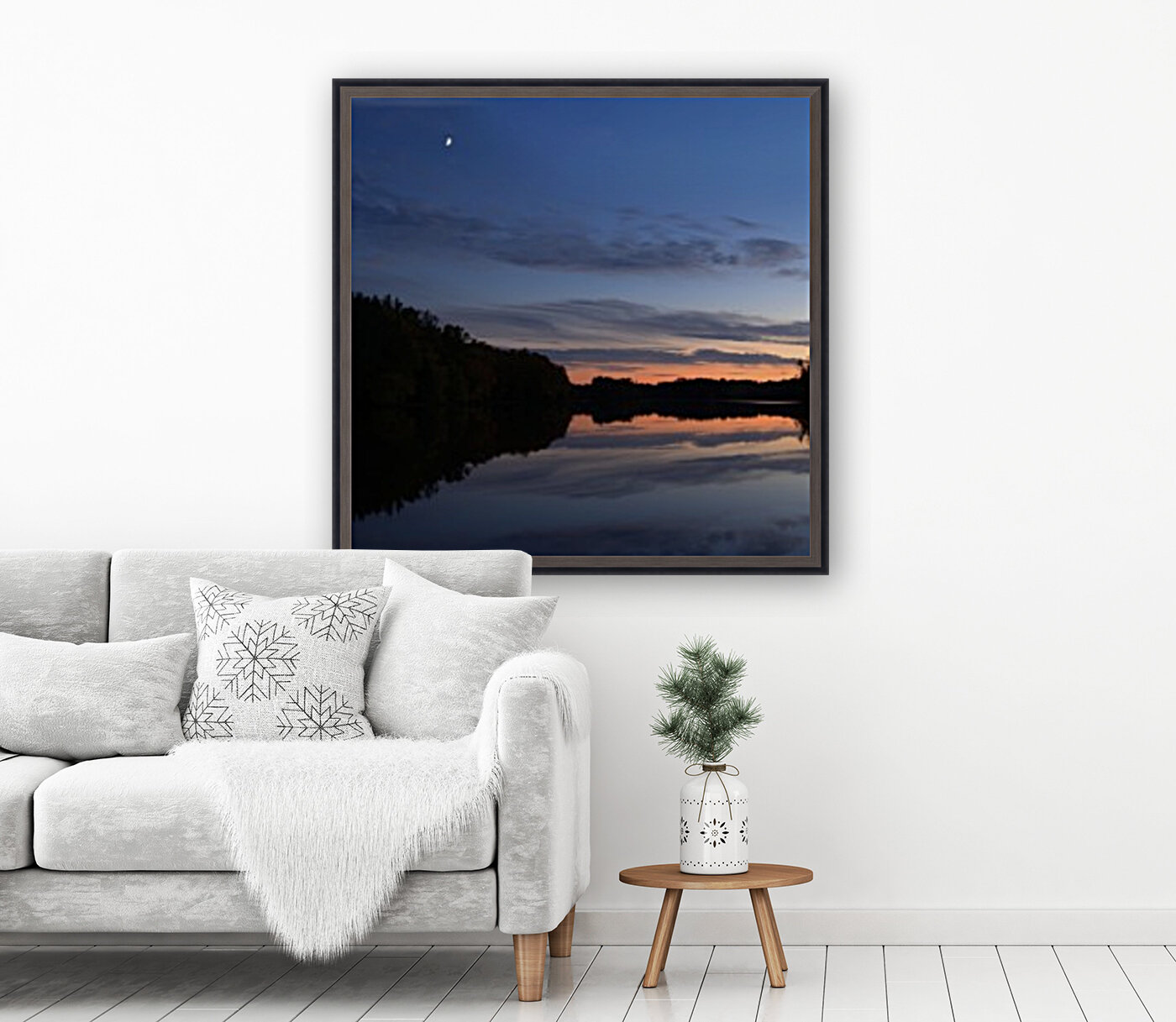 Heure bleue with Floating Frame