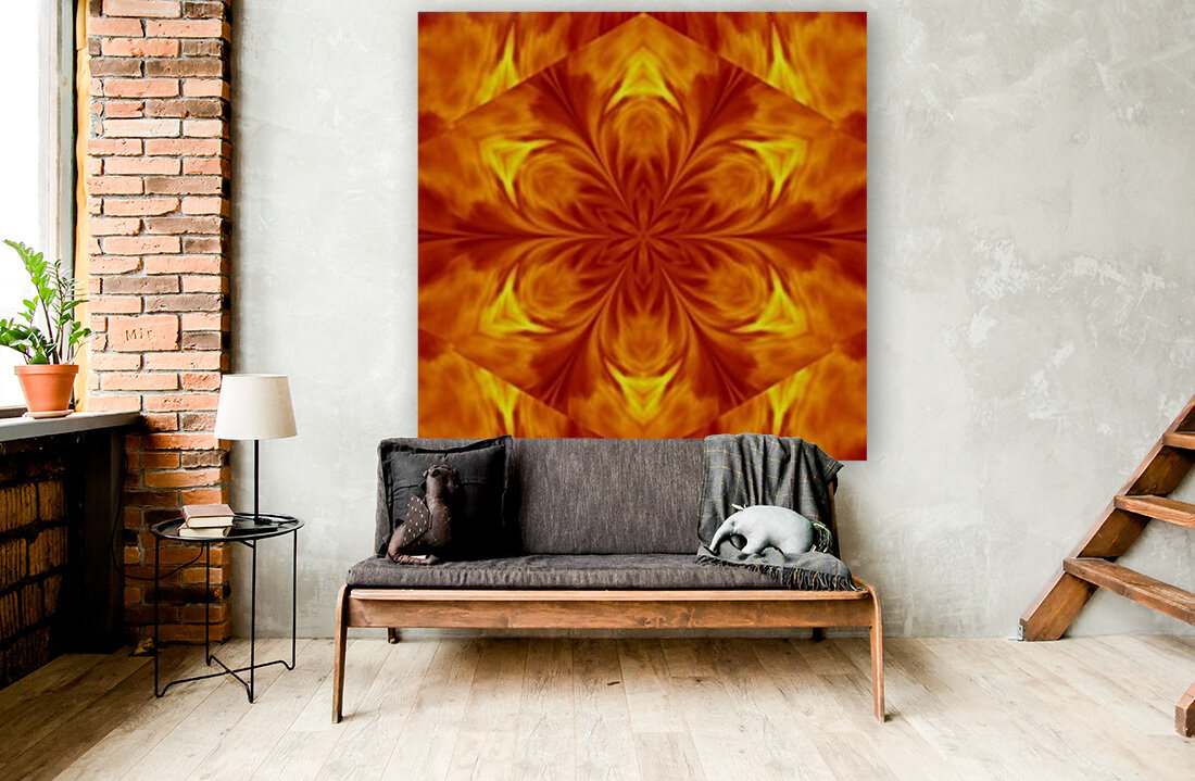 Fire Flowers 7 with Floating Frame