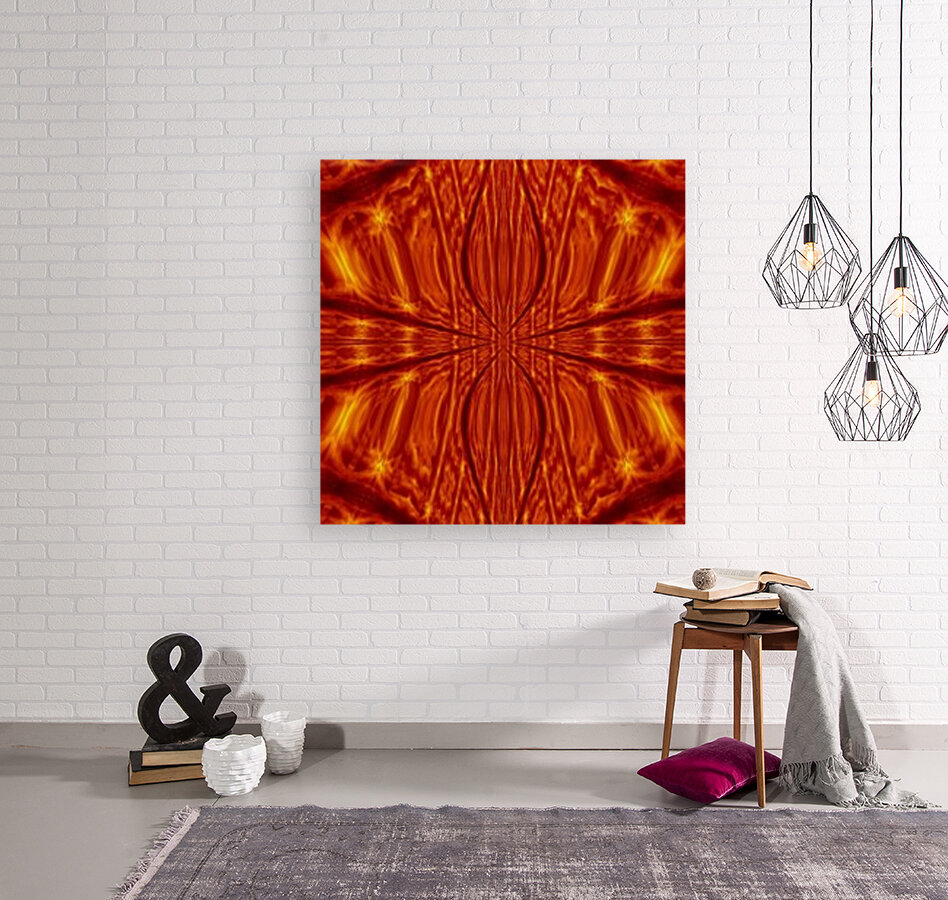Fire Flowers 55 with Floating Frame