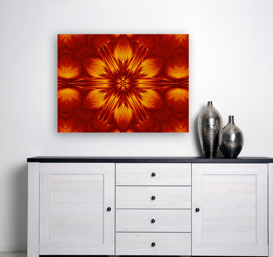 Fire Flowers 74 with Floating Frame
