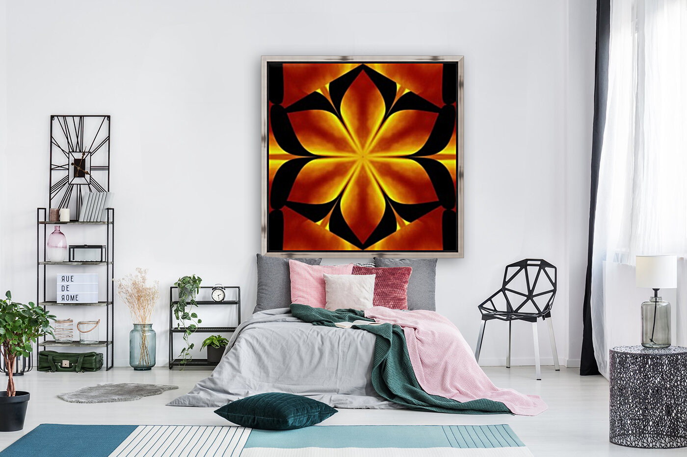 Fire Flowers 91 with Floating Frame