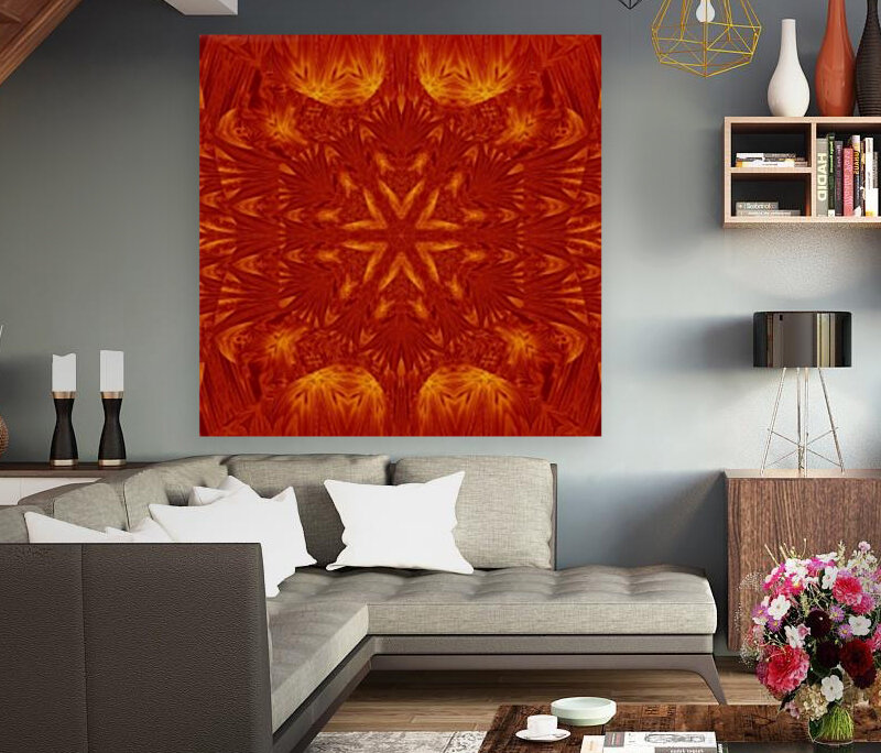 Fire Flowers 178 with Floating Frame