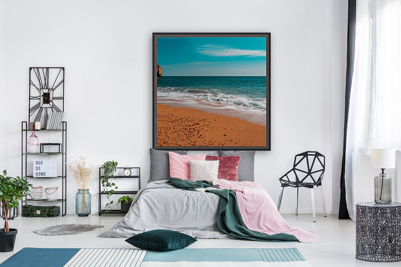 Ocean Beach in Teal and Orange  Art