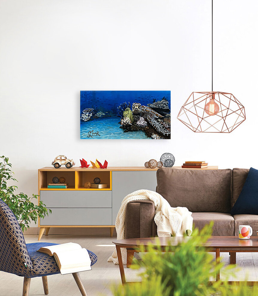 Sea Turtle with Floating Frame