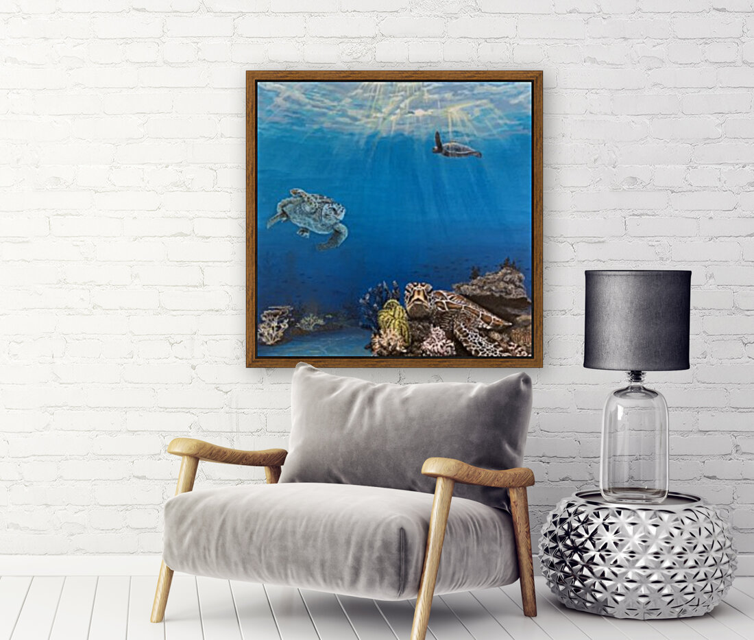 Under the Sea with Floating Frame