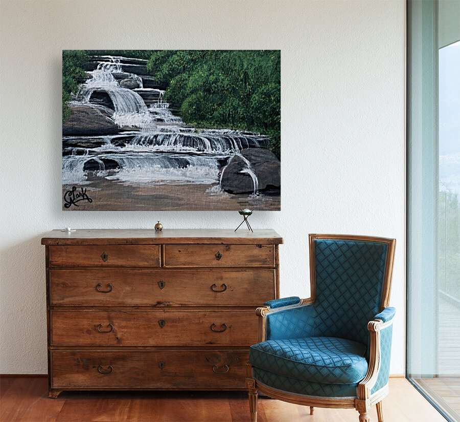 River Falls with Floating Frame
