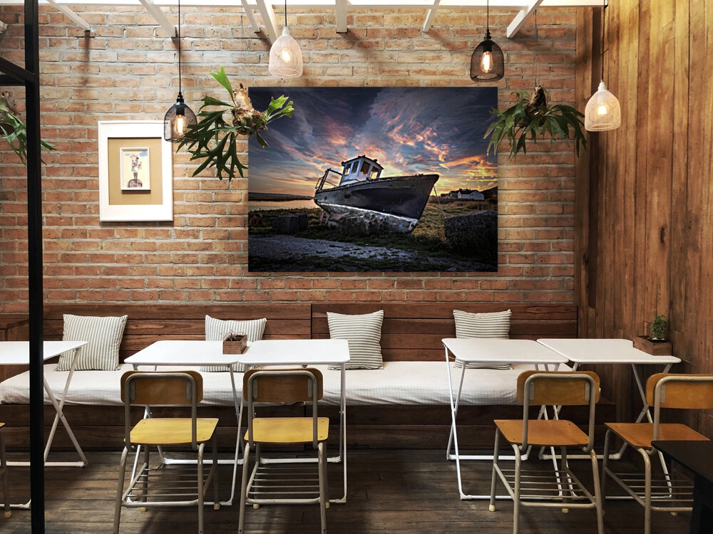 The old fishing boat  Art