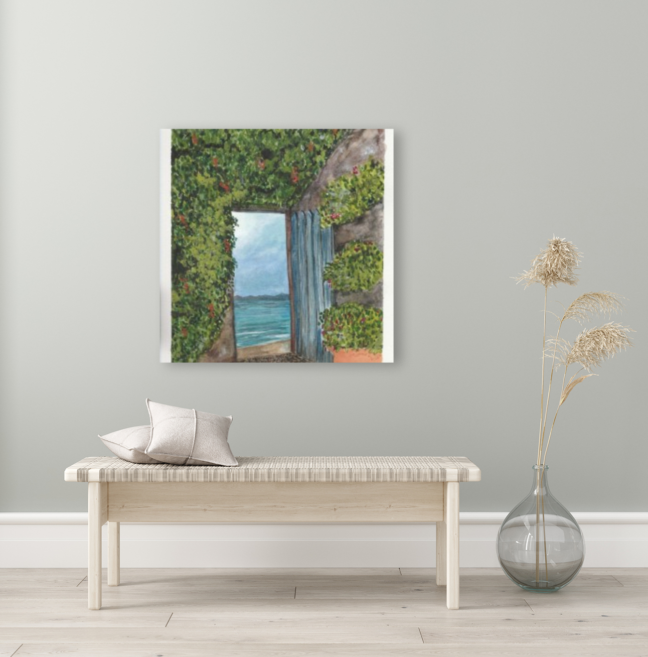 An Open Door with Floating Frame
