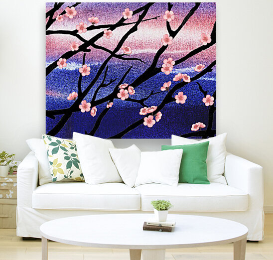 Cherry Blossoms with Floating Frame
