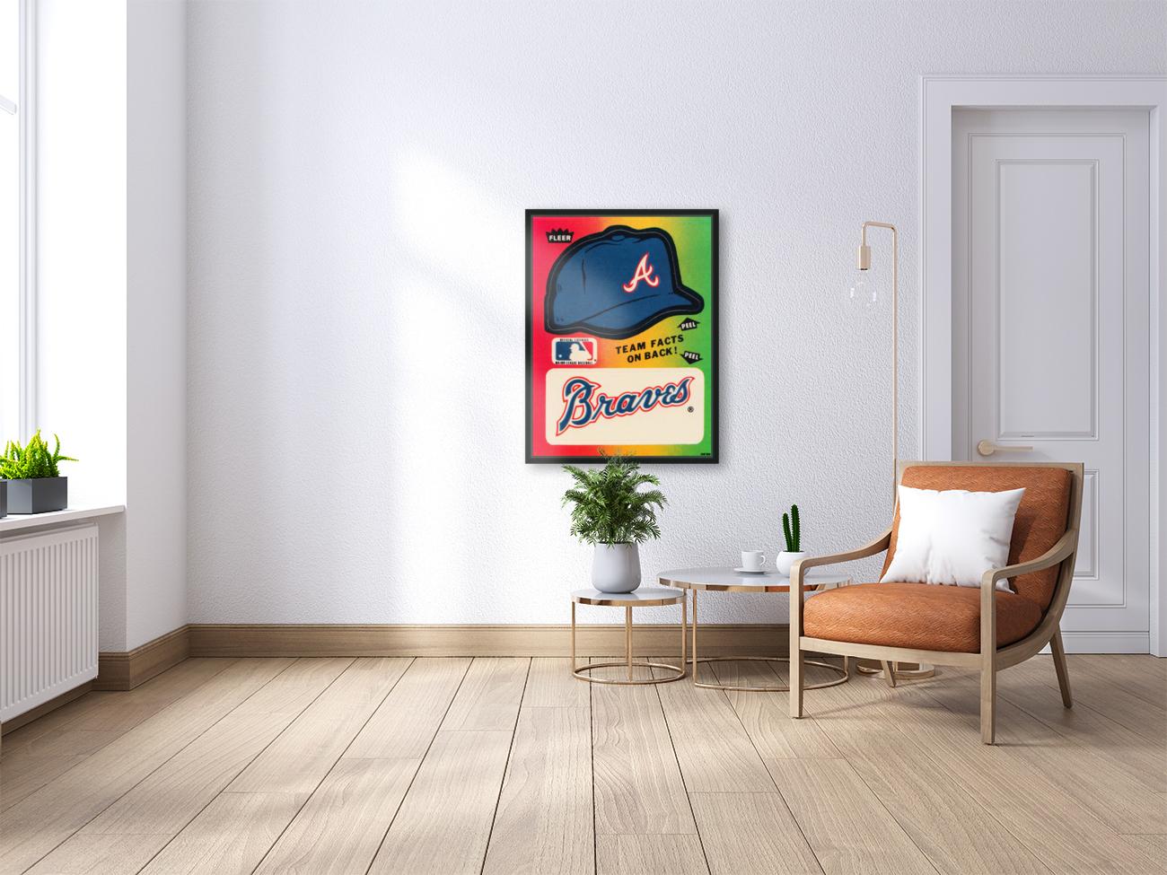 1983 Atlanta Braves Fleer Decal  Art