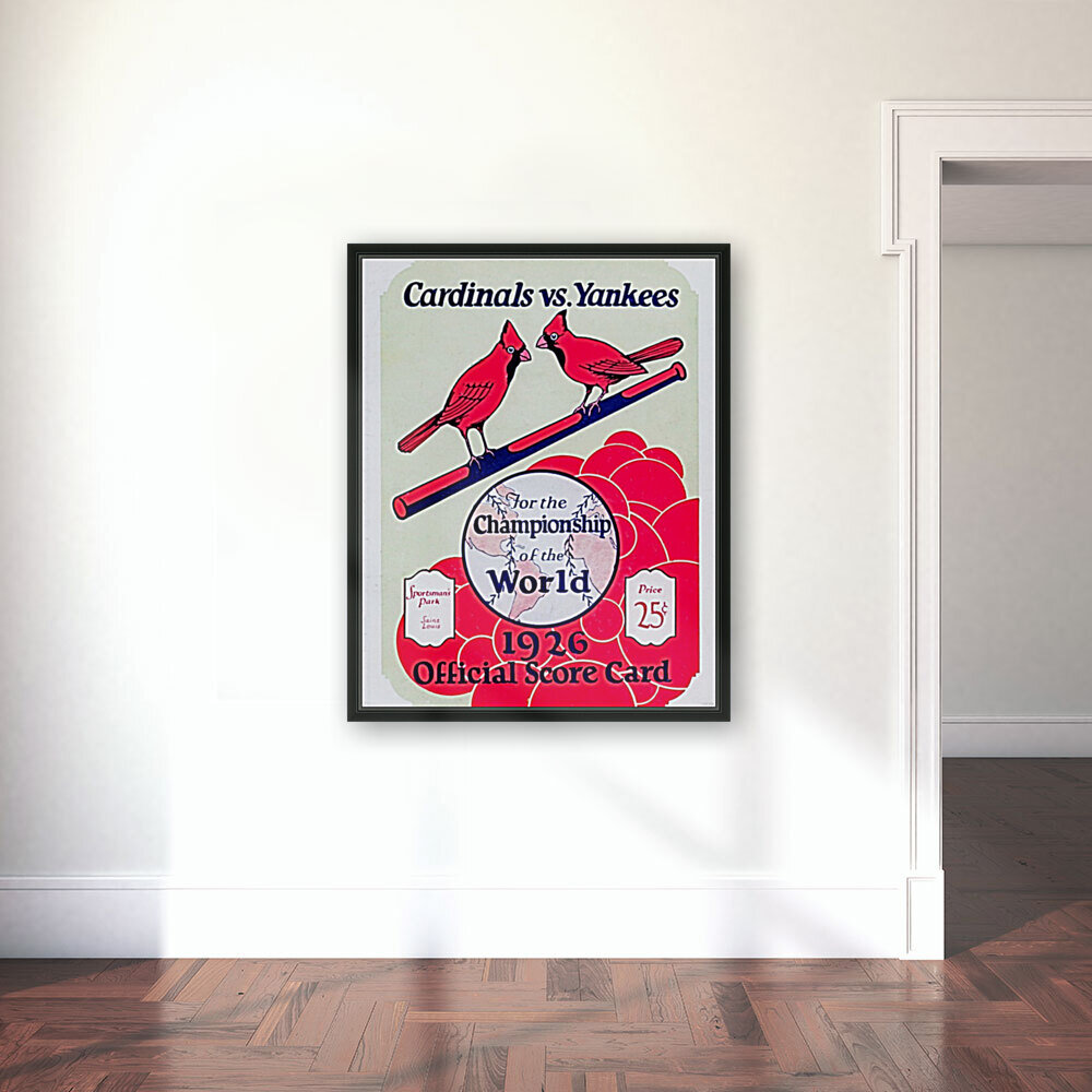1926 World Series Score Card  Art