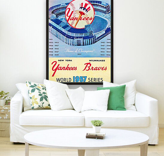 1957 World Series Program with Floating Frame